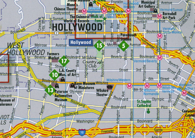 MANCAMONDO – Tourist Map Of Hollywood